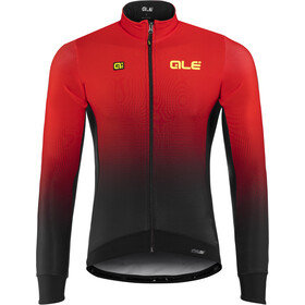 Alé Cycling PRS Dots DWR Longsleeve Jersey Herre black-red